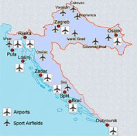 Airports in Croatia